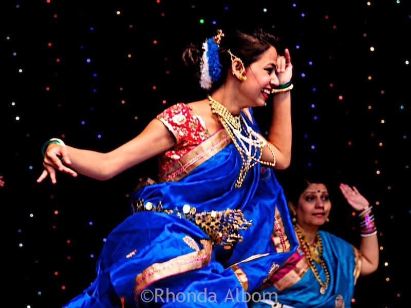 Dancers at Auckland Diwali Festival 2015 in New Zealand