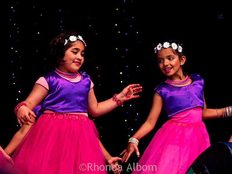 Colorful children were among the dancers at Auckland Diwali Festival 2015 in New Zealand