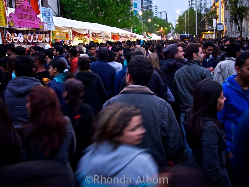 Food stalls at the Auckland Diwali Festival 2015 in New Zealand