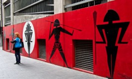 Tongan influenced Auckland street art by Benjamin Work. (New Zealand)