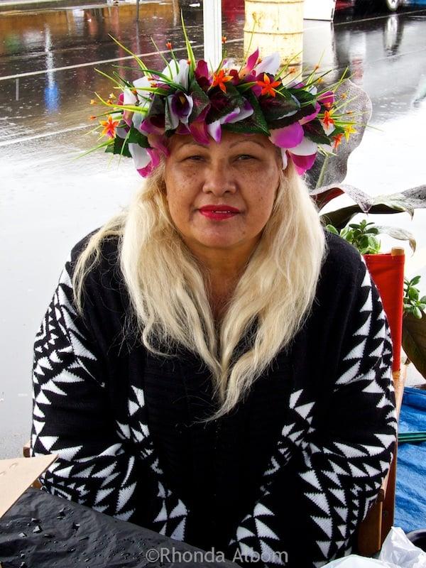 Visiting auckland s polynesian style otara market in the rain