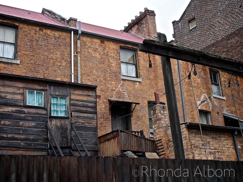 Working class housing from the mid 1800's in the Rocks in Sydney Australia
