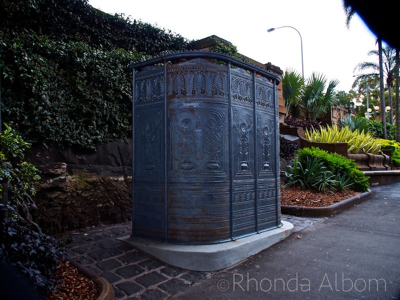 Australia's oldest public urinal is in the Rocks, Sydney Australia