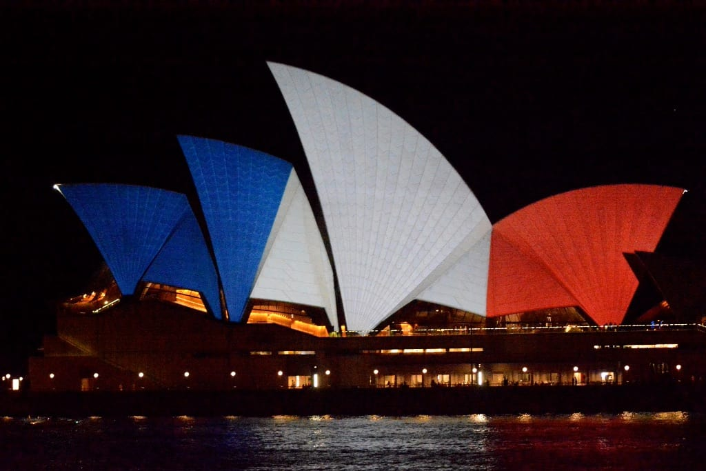 Sydney lights up the Opera House in Support of France