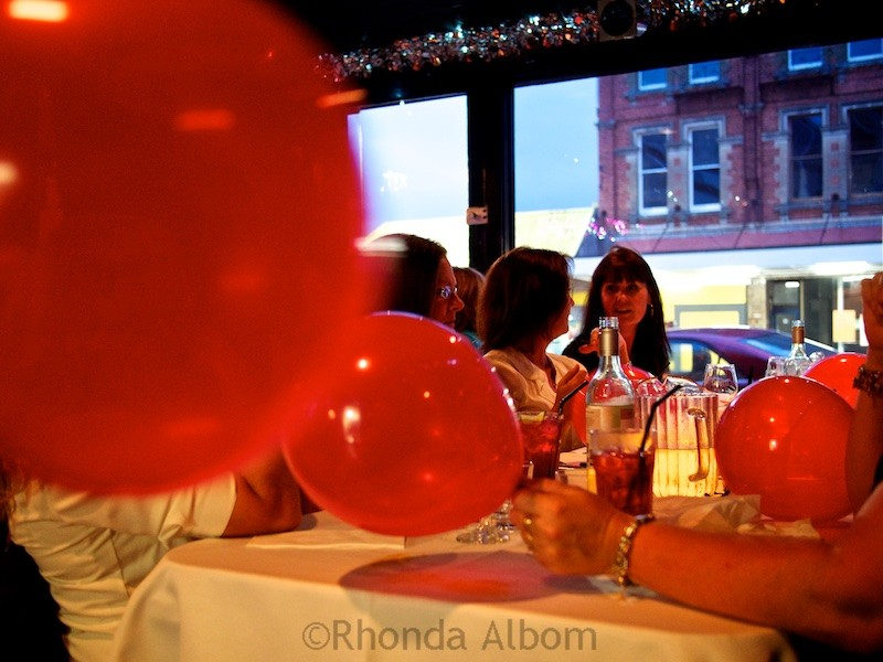 Balloons at Caluzzi Bar and Cabaret in Auckland New Zealand