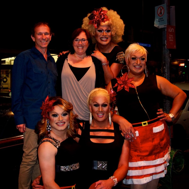The girls at Caluzzi Bar and Cabaret in Auckland New Zealand