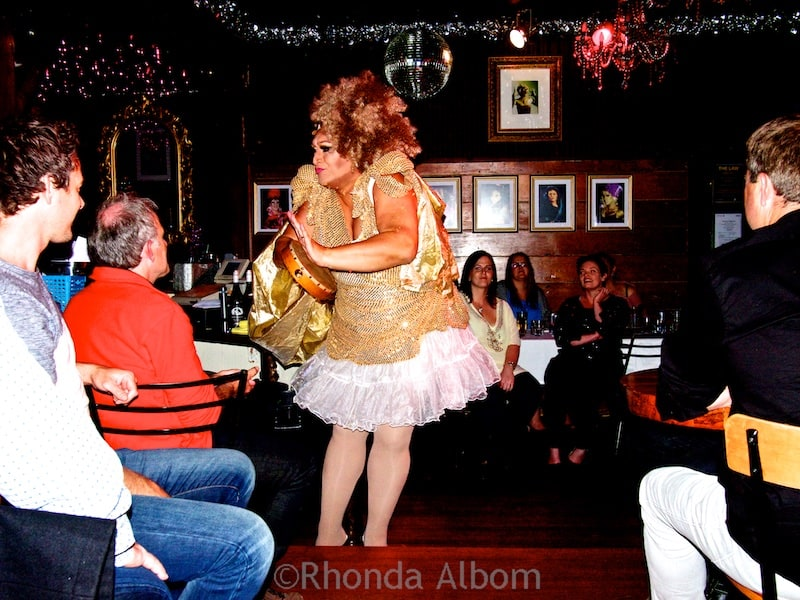 Drag Queen show at Caluzzi Bar and Cabaret in Auckland New Zealand