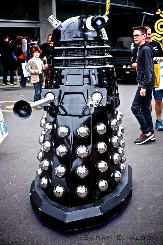 Dr. Who Dalek. Copyright Sarah E. Albom 2015; for more photos of the 2015 Auckland Armageddon Expo, visit Albom Adventures