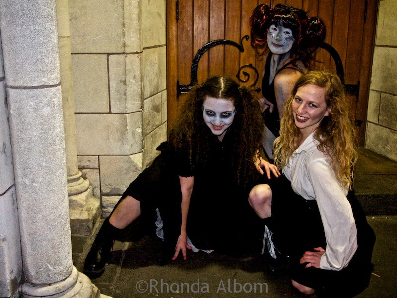 The undead children at Crucible In the Hall of the Vampier King, a musical LARP in Auckland New Zealand