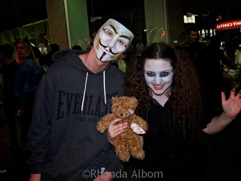 Sarah Albom on Halloween in Auckland