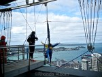Leaping off the Sky Tower in Auckland New Zealand
