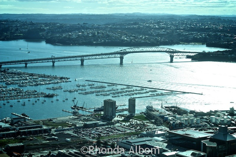 Views from the Observation Deck of the Auckland Sky Tower, New Zealad