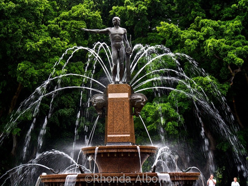 Archibald Fountain in Hyde Park in Sydney Australia