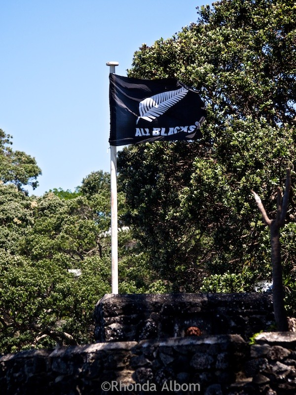 All Blacks flag flying proudly.