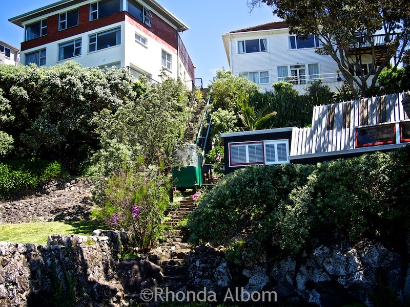 House with elevator on the Takapuna to Milford Trail in Auckland New Zealand