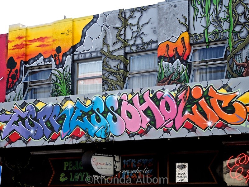 Colorful graffiti in New Zealand's capital city