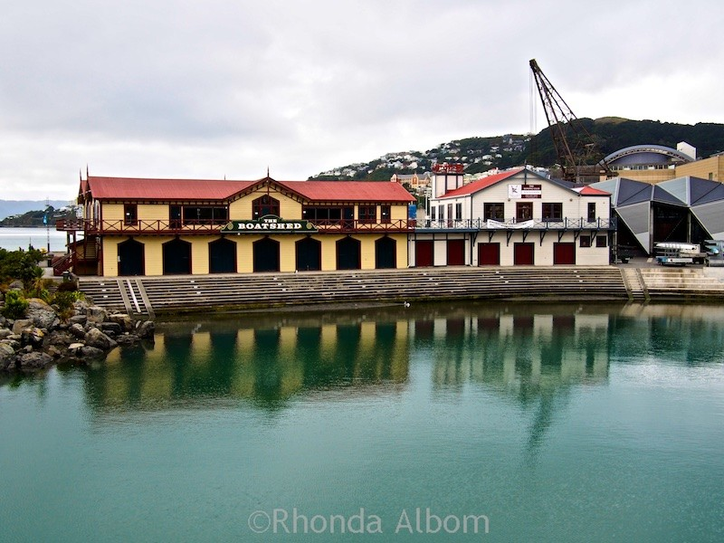 Old boat house in Wellington New Zealand