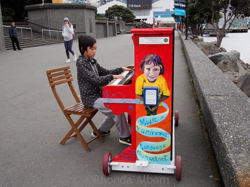 Piano on the Wellington Waterfront