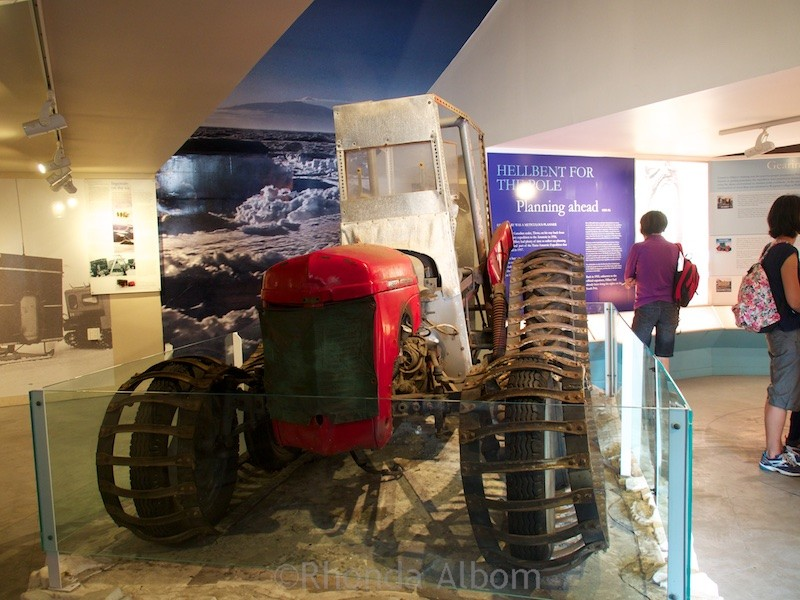 Antarctic display at MOTAT Museum of Transport and Technology in Auckland New Zealand