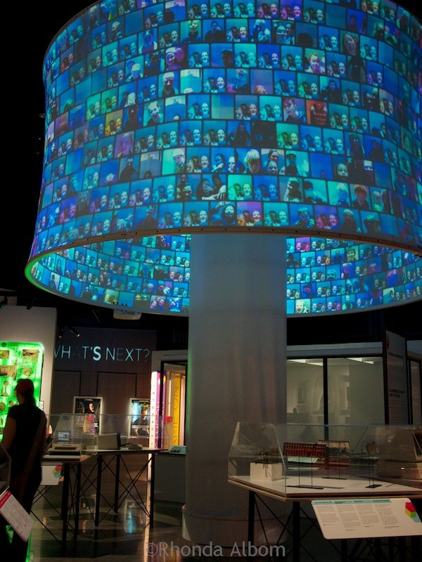 Giant selfie display at MOTAT Museum of Transport and Technology in Auckland New Zealand
