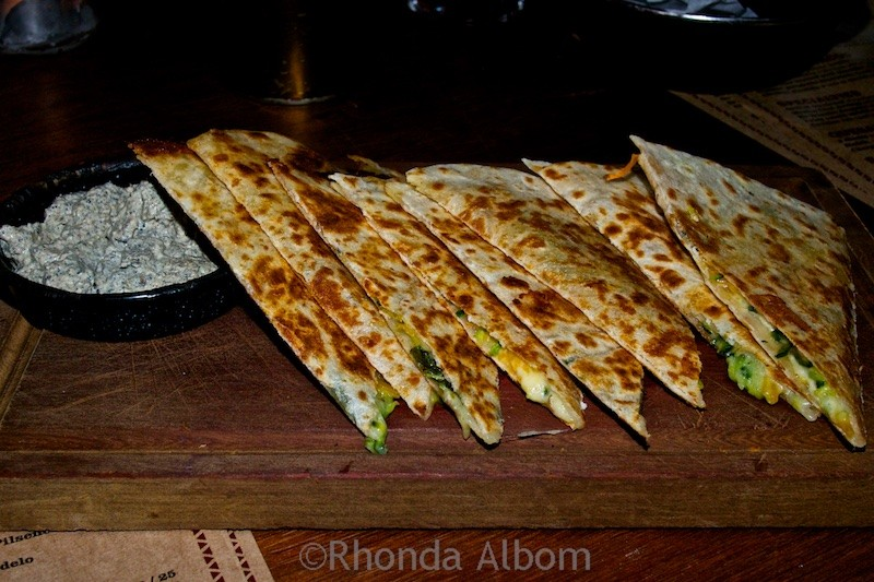 Quesadilla at Mexico in the Ponsonby Auckland New Zealand