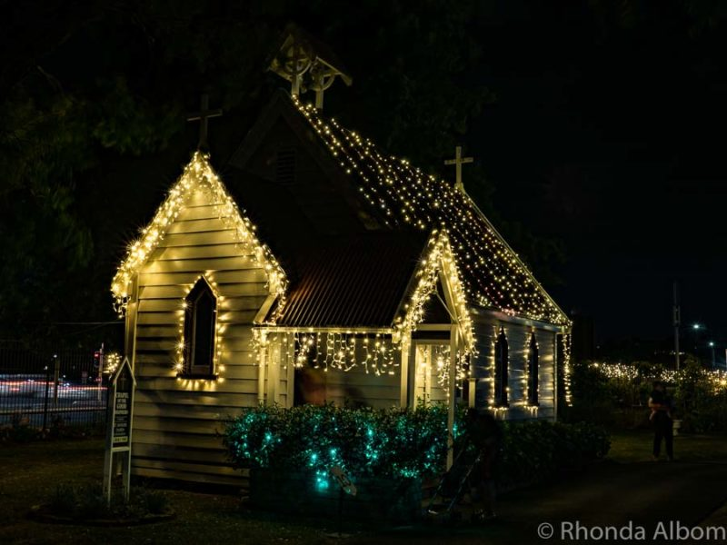 Christmas illumination at MOTAT in Auckland New Zealand