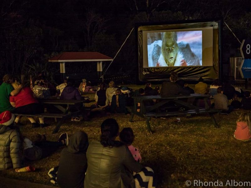 Open air cinema at MOTAT in Auckland New Zealand
