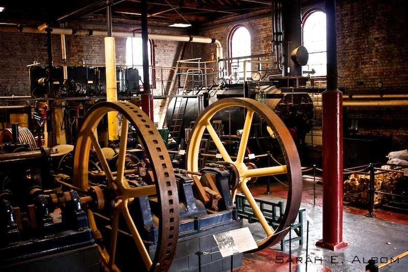 Steam house that drives the pump room at MOTAT, Auckland, New Zealand