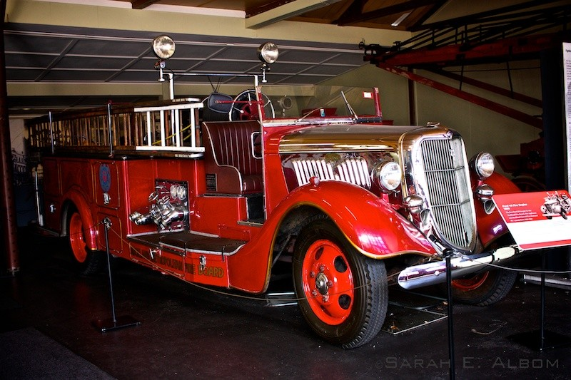 Old fire engine at MOTAT in Auckland New Zealand