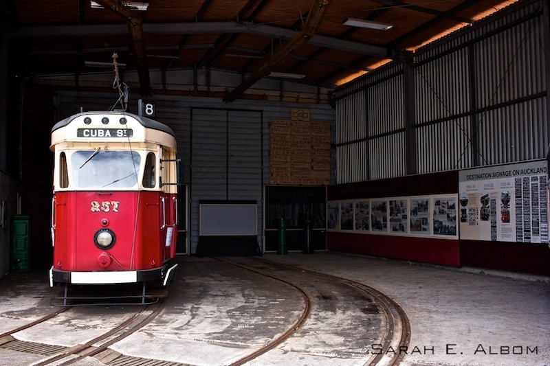 Tram at the Museum of Transport and Technology in Auckland New Zealand