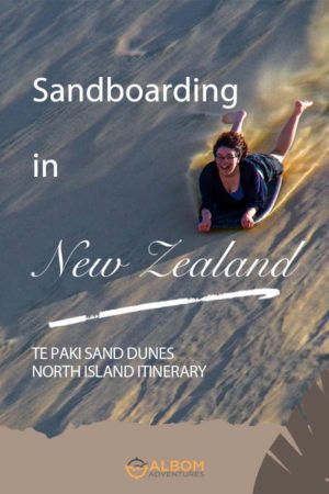 Sandboarding is a popular adrenaline pumping New Zealand adventure