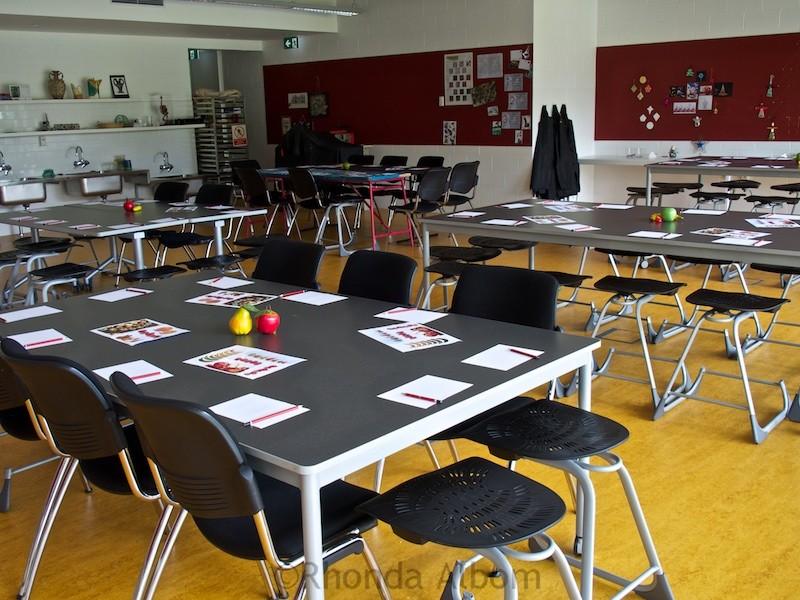 Classroom inside Te Uru: Waitakere Contemporary Gallery in Titirangi, Auckland, New Zealand