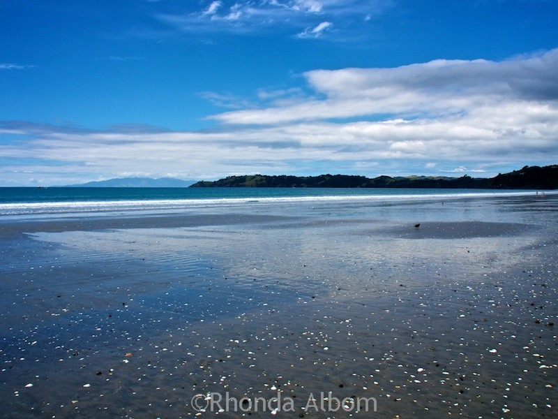 Onetangi beach, one of many Waiheke Island beaches near Auckland New Zealand