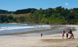 Palm Beach - one of many Waiheke Island beaches near Auckland New Zealand