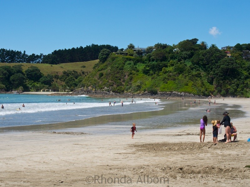 Palm Beach, one of many Waiheke Island beaches near Auckland New Zealand