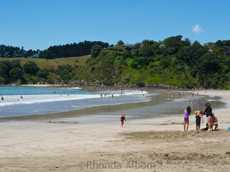 Palm Beach - one of many Waiheke Island beaches near Auckland New Zealand