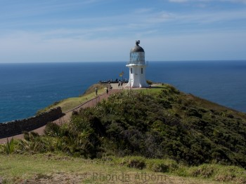 Walking path to the lighthouse at Cape Reinga, the top of the North Island in New Zealand