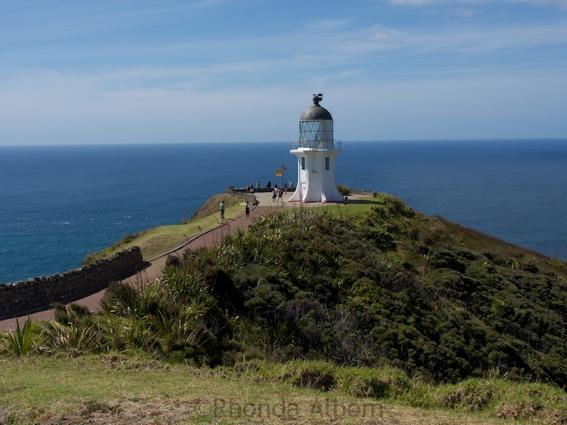 Walking path to the lighthouse at Cape Reinga in New Zealand