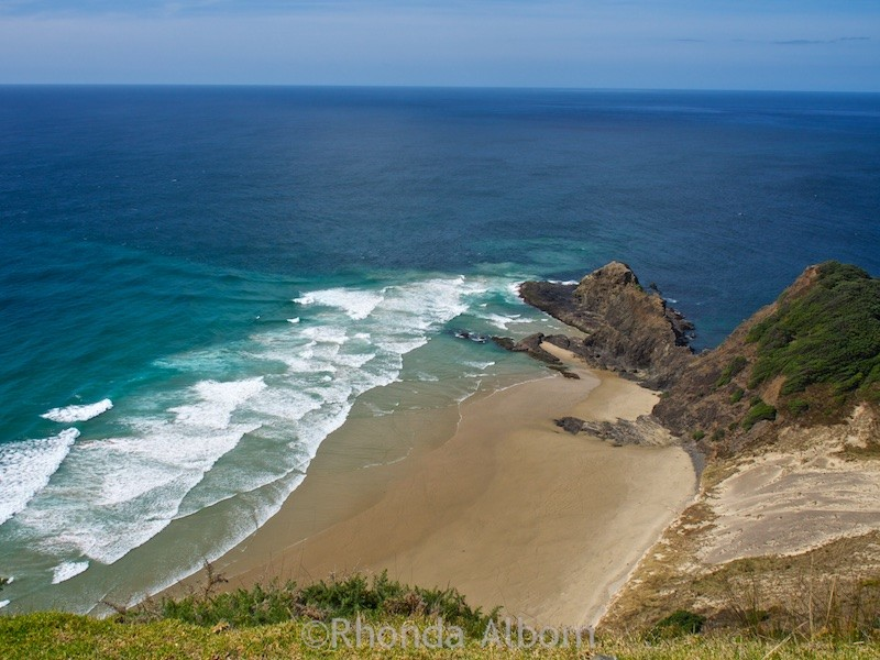 View from the Cape Reinga at the top of the North Island of New Zealand