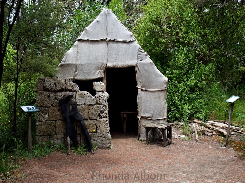 A hut in Gummdigges Village, Awanui New Zealand