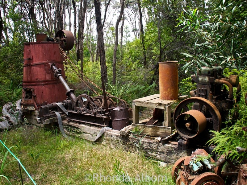 Gum washing machine in Gummdigges Village, Awanui New Zealand