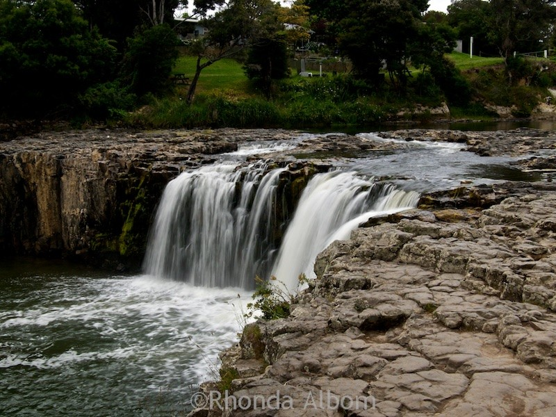 Haruru Falls near the Waitangi Treaty Grounds in the Bay of Islands New Zealand