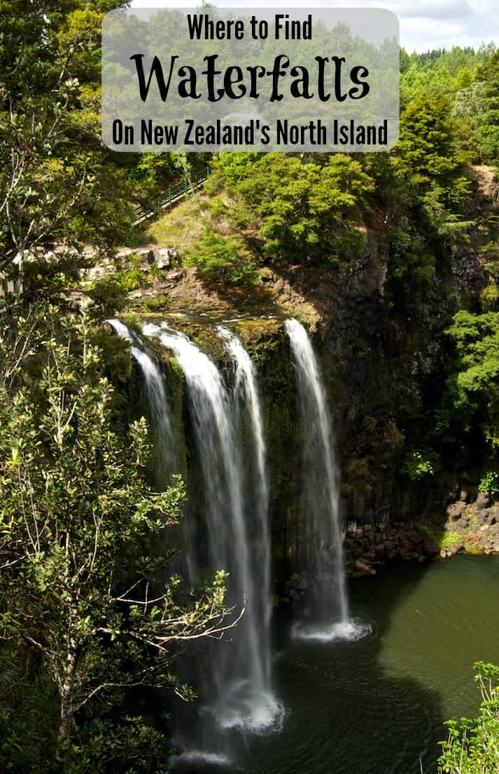 If you love waterfalls as much as I do, check out these four stunning New Zealand waterfalls each found off the beaten path between Auckland and the Bay of Islands on the North Island. #NewZealand #Travel #Waterfalls