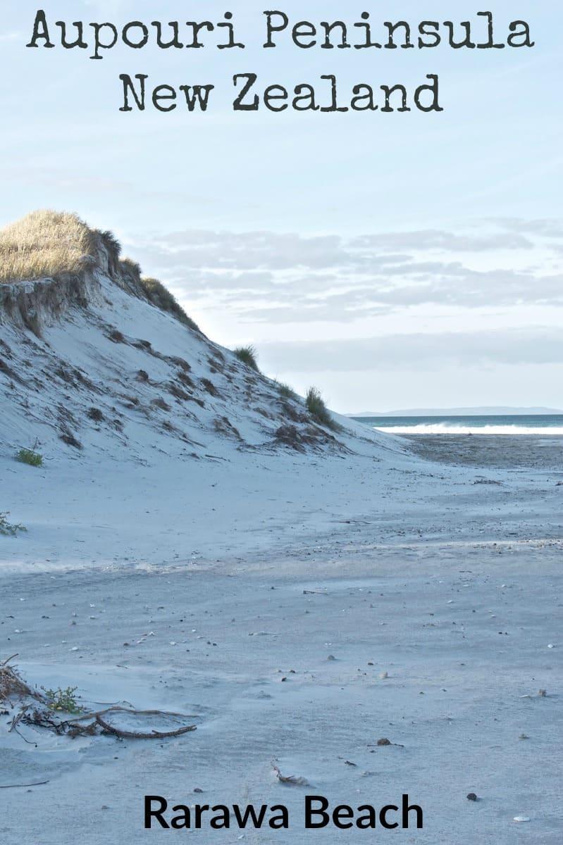 White silica sand at Rarawa Beach on the Aupouri Peninsula New Zealand