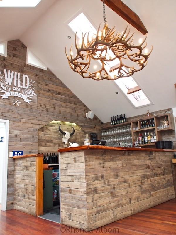 Bar at Wild on Waiheke on Waiheke Island outside of Auckland New Zealand