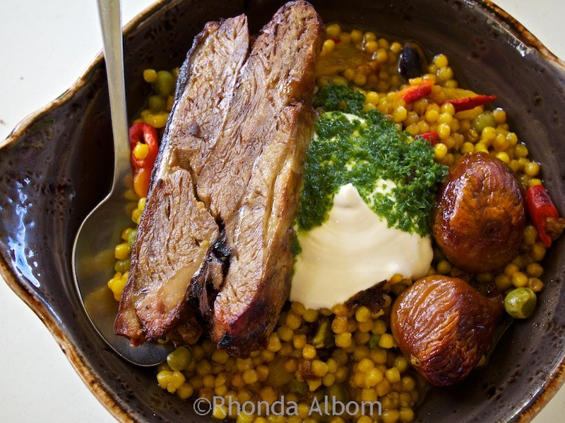 Lamb couscous with figs at Casita Miro on Waiheke Island outside of Auckland New Zealand
