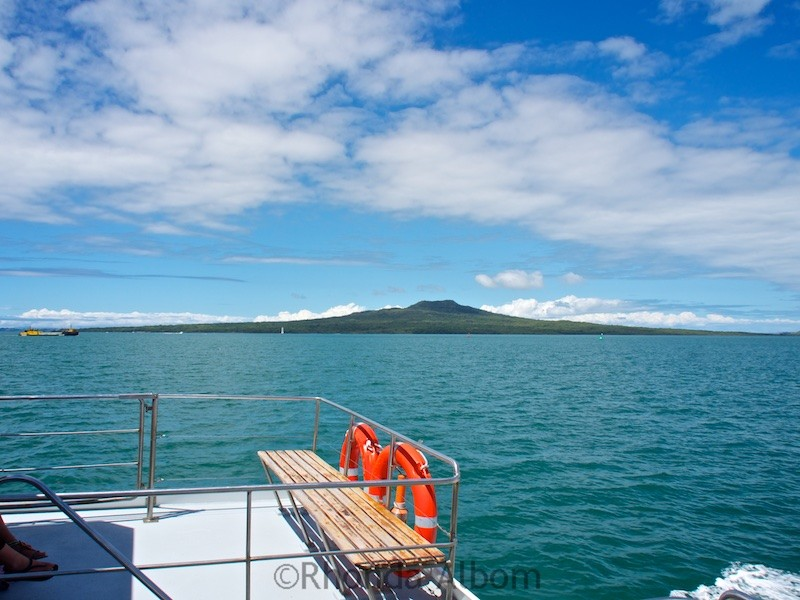 Rangitoto Island outside Auckland New Zealand
