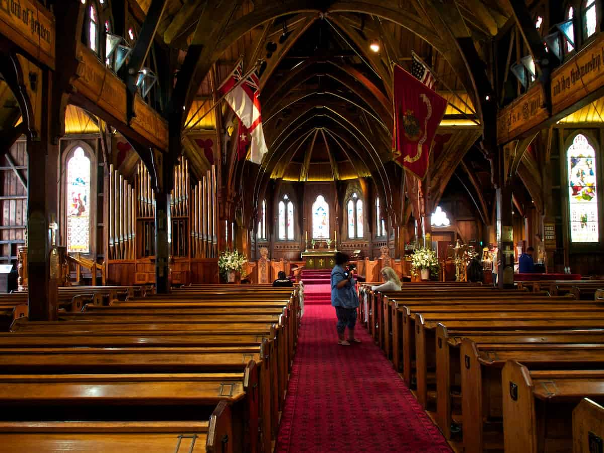Old St Paul Cathedral in Wellington New Zealand