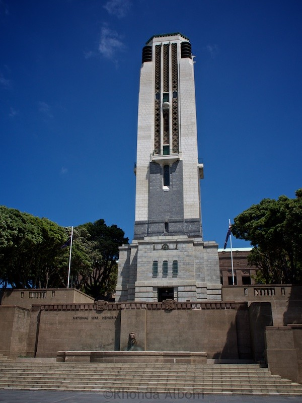 National War Memorial in Wellington New Zealand