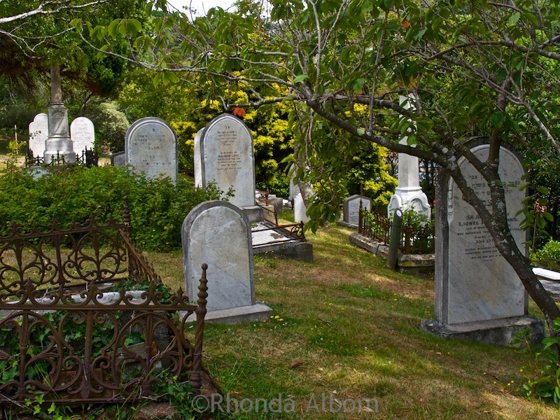 Jewish section of the Bolton Street Cemetery in the Wellington Botanic Garden New Zealand